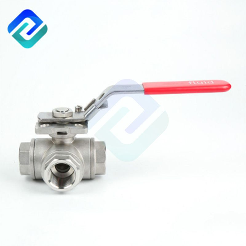 China wholesale 1/4~4 inch ball valve stainless steel 304 316 three way ball valve