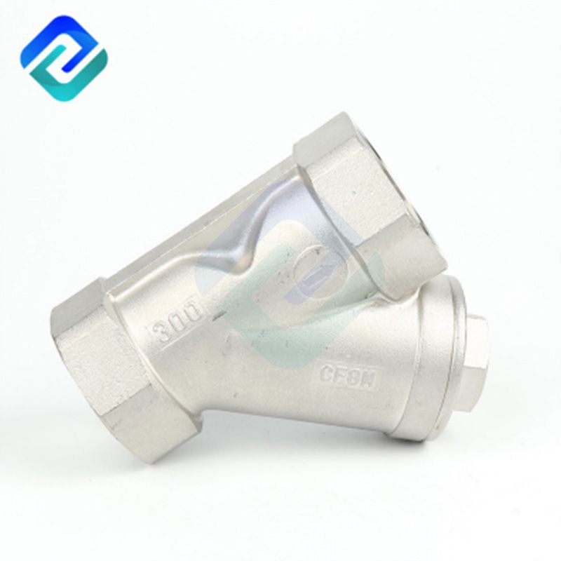 Precision casting internal thread Y-type strainer