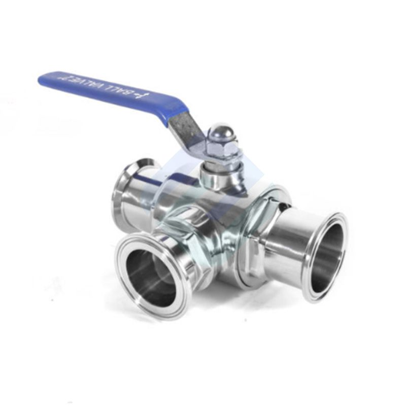 Stainless Steel Three Way T/L Sanitary Valves Flanged Camlock Valve