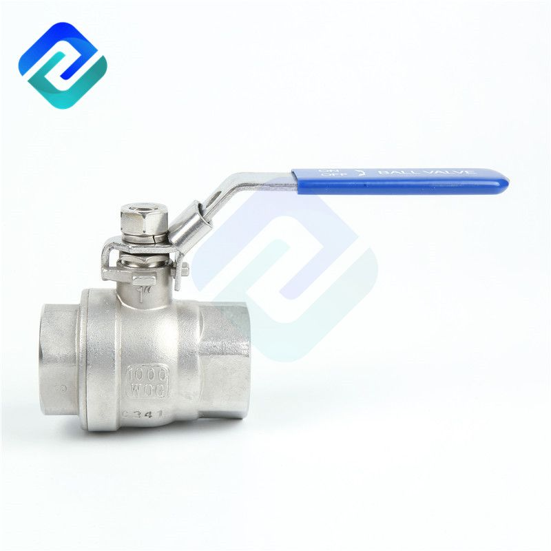 Two piece stainless steel ball valve light type