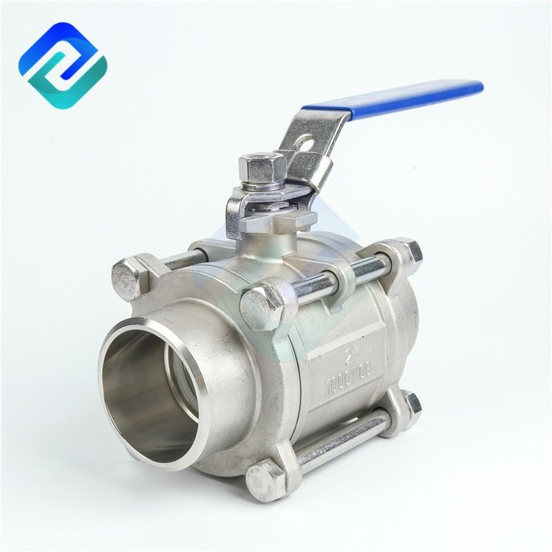 Stainless Steel 304 316L Manual butt weld 1000 WOG 3 PC ball valve