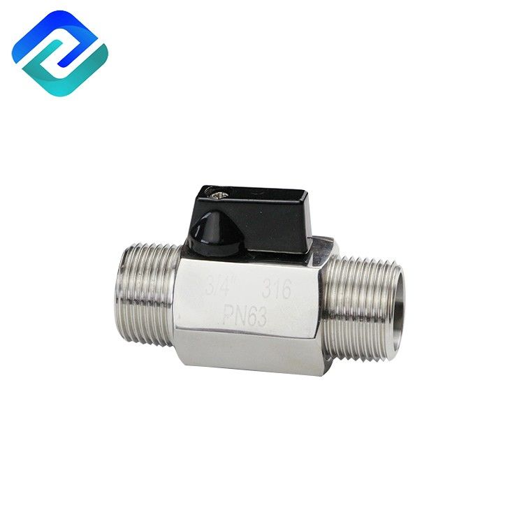 304/316 stainless steel male thread ball valve 1000 wog