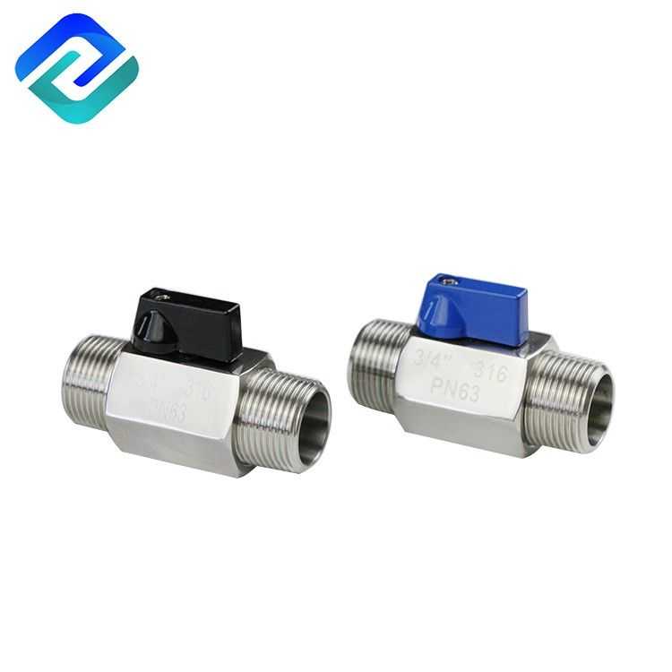 304/316 stainless steel male thread ball valve 1000 wog