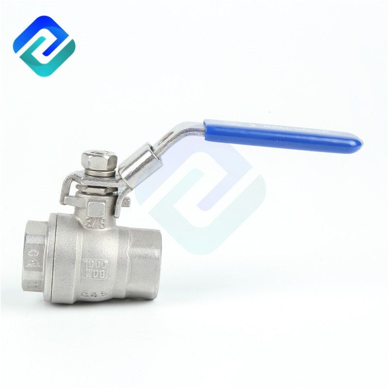 Stable quality 1000 wog 2PC water oil gas stainless steel ball valve