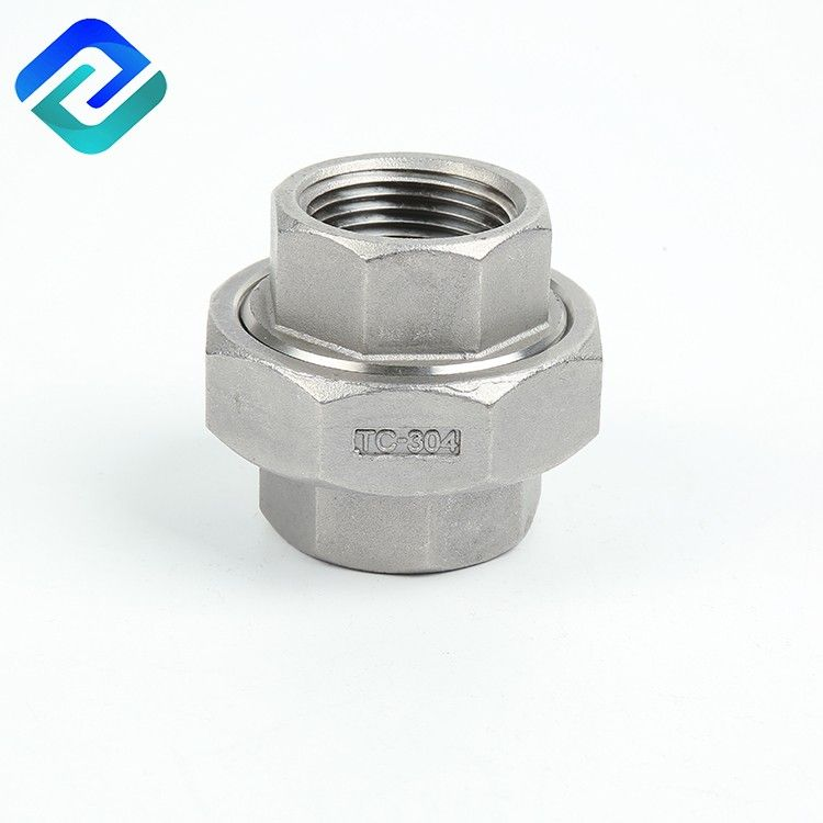 304/316 stainless steel investment cating pipe fittings female thread Union