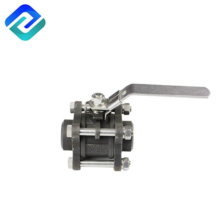 WCB carbon steel female thread 3pc water ball valve with lock