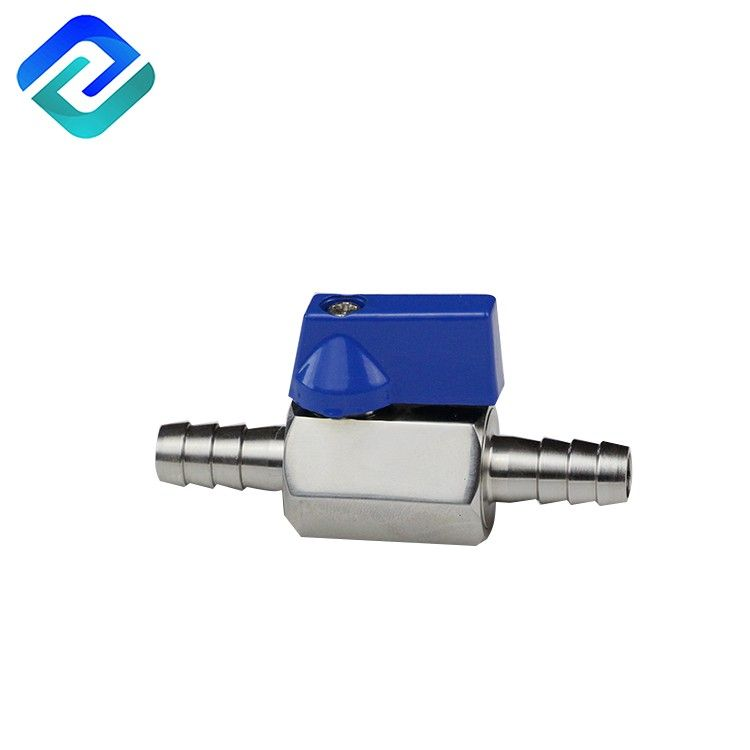 Wide varieties 304/316 Stainless steel hose bar mini ball valve