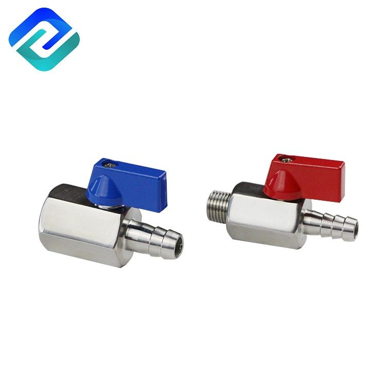 Durable in use 304/316 stainless steel investment casting hose bar mini ball valve