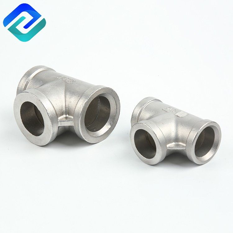 Stainless steel investment casting threaded pipe fittings tee
