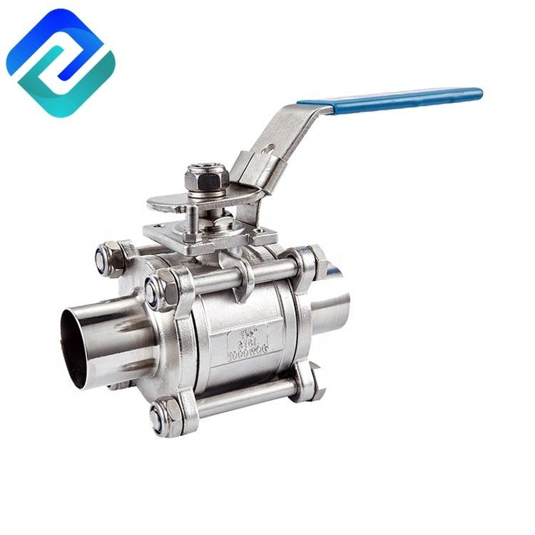 Sanitary ball valve price 2 inch stainless steel 3PC ball valve