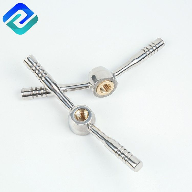 CF8 stainless steel lost wax casting manway hand wheel bar used for brewing equipment and Manhole
