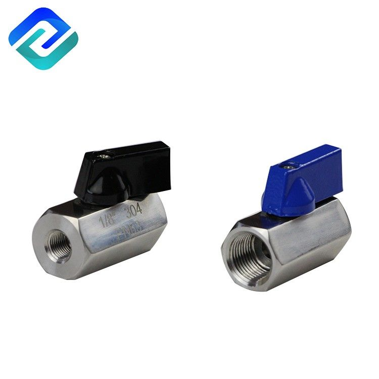 female to female or male to male small mini 304 316 stainless steel 1/2 pn25 inch floating ball valve