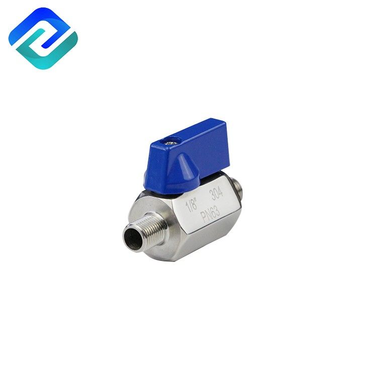 High Quality 316 Stainless Steel Mini Ball Valve for Water Oil Gas 1/8-1 inch