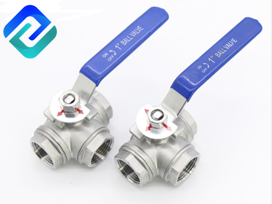 Stainless Steel Three Way Ball Valve 1/4''~4''