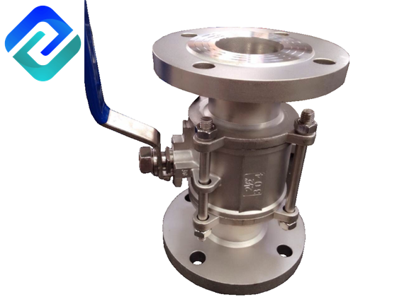 Precision casting two-piece American standard flange ball valve (with high platform)