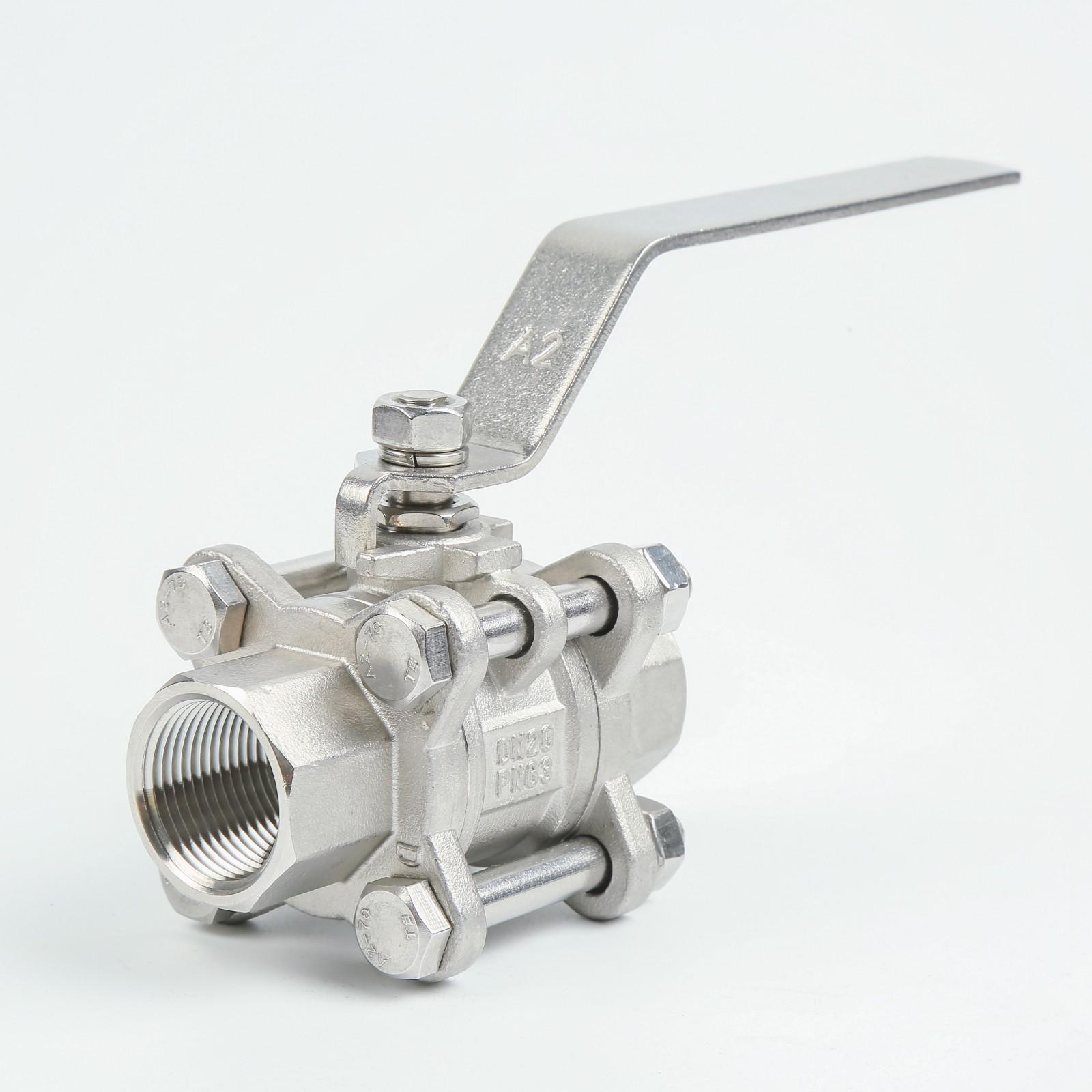 Stainless steel 3pc ball valve