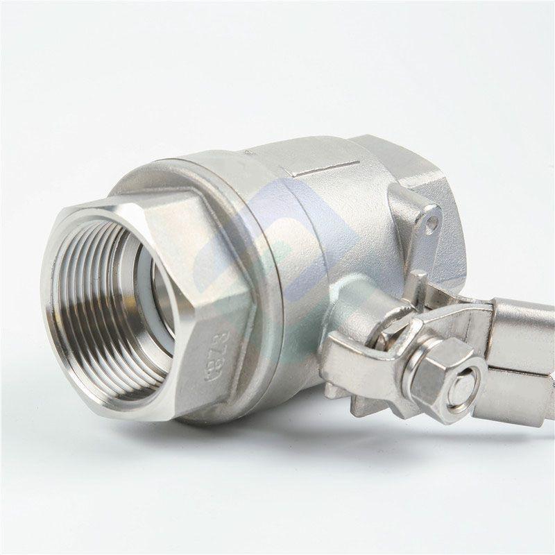 2 pc 304 316 grade stainless steel ball valve with BSP thread DN6~DN100