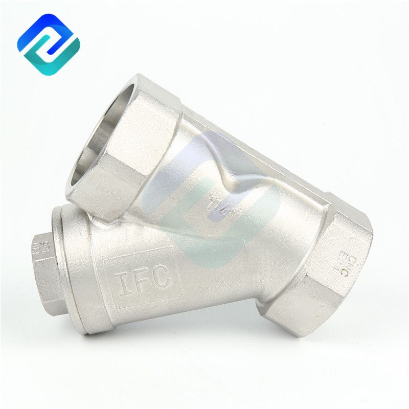 Precision casting internal thread Y-type check valve