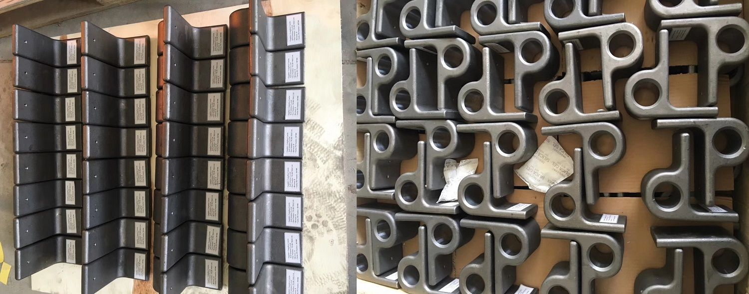 OEM carbon steel investment precision casting military parts with machining