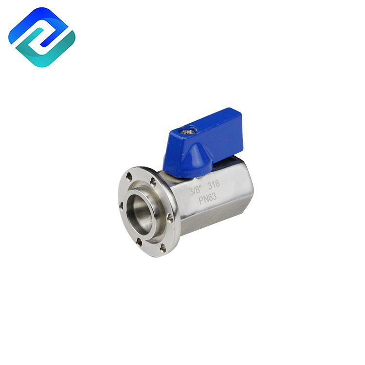 Beautiful design 304/316 stainless steel mini ball valve flanged end