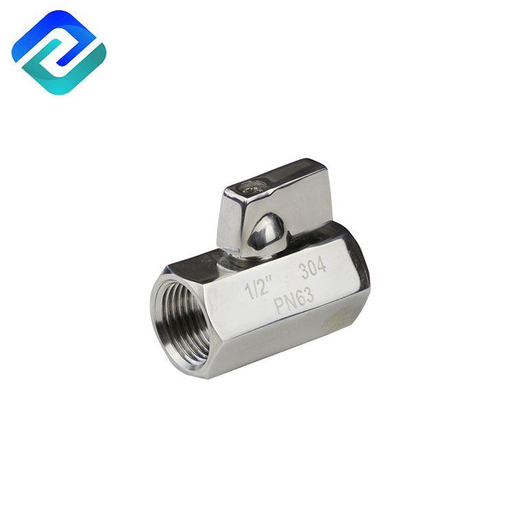 304/316 stainless steel female- female male-female male-male mini ball valve